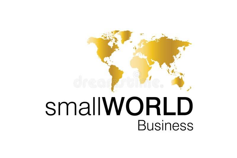 Logotipo pequeno do negócio de mundo ilustração royalty free