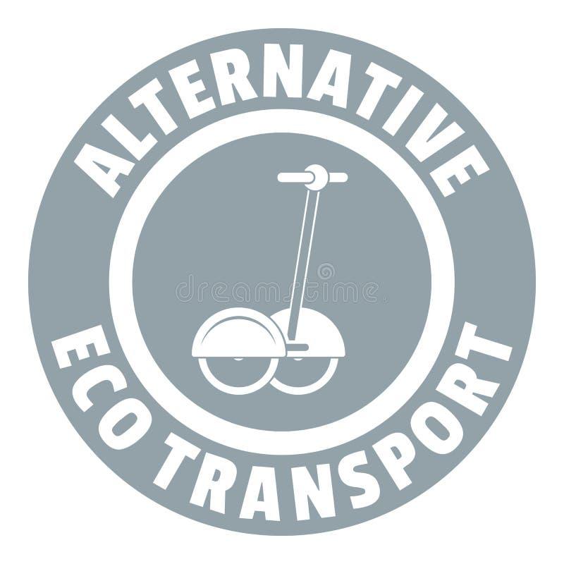 Logotipo pessoal do 'trotinette' do giroscópio, estilo cinzento simples ilustração do vetor