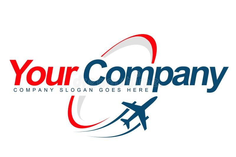 Logotipo plano ilustração stock