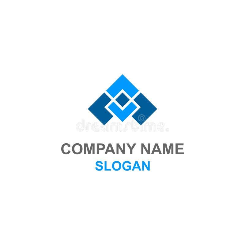 Logotipo plano abstrato da aviação ilustração stock