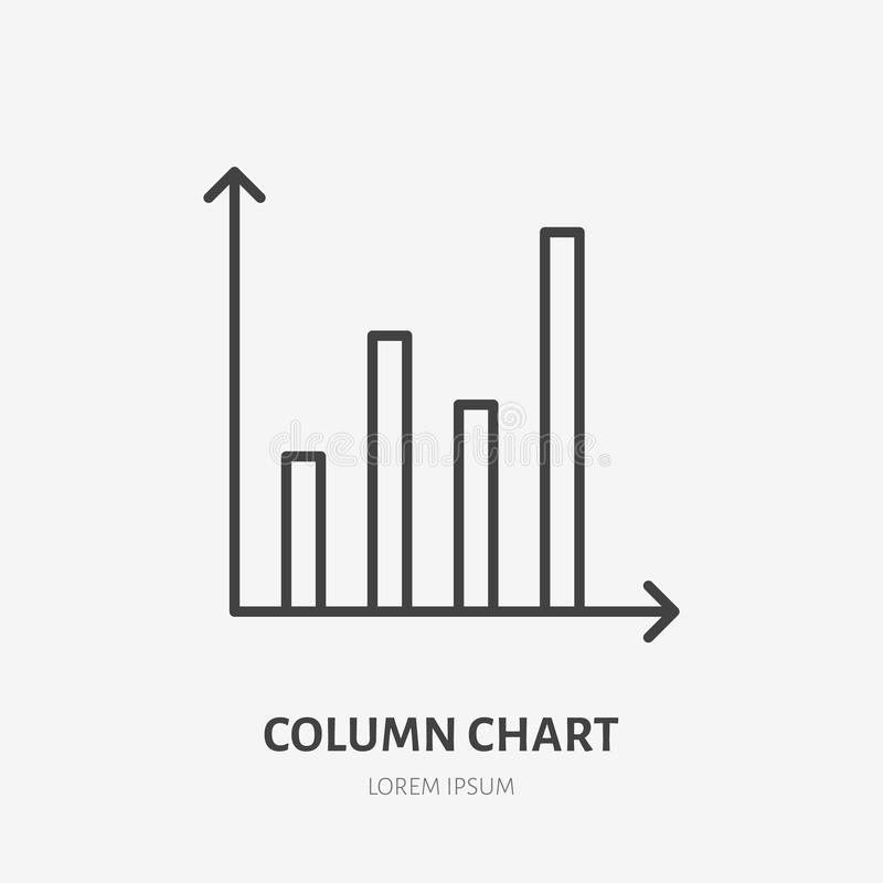 Logotipo plano del análisis financiero, carta, icono del gráfico Ejemplo del vector de la visualización de los datos, muestra par libre illustration