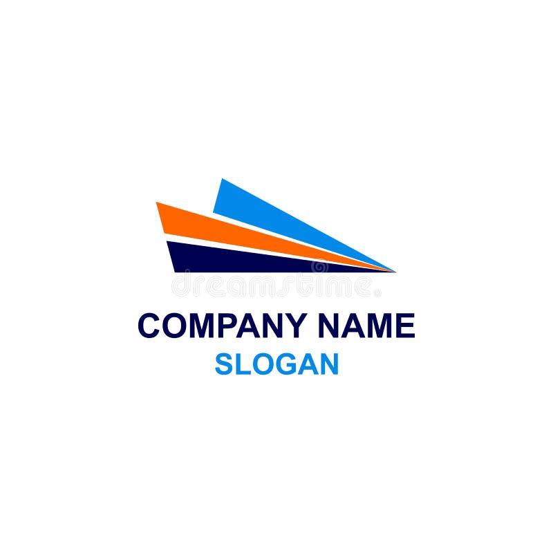 Logotipo plano do papel do sumário ilustração royalty free