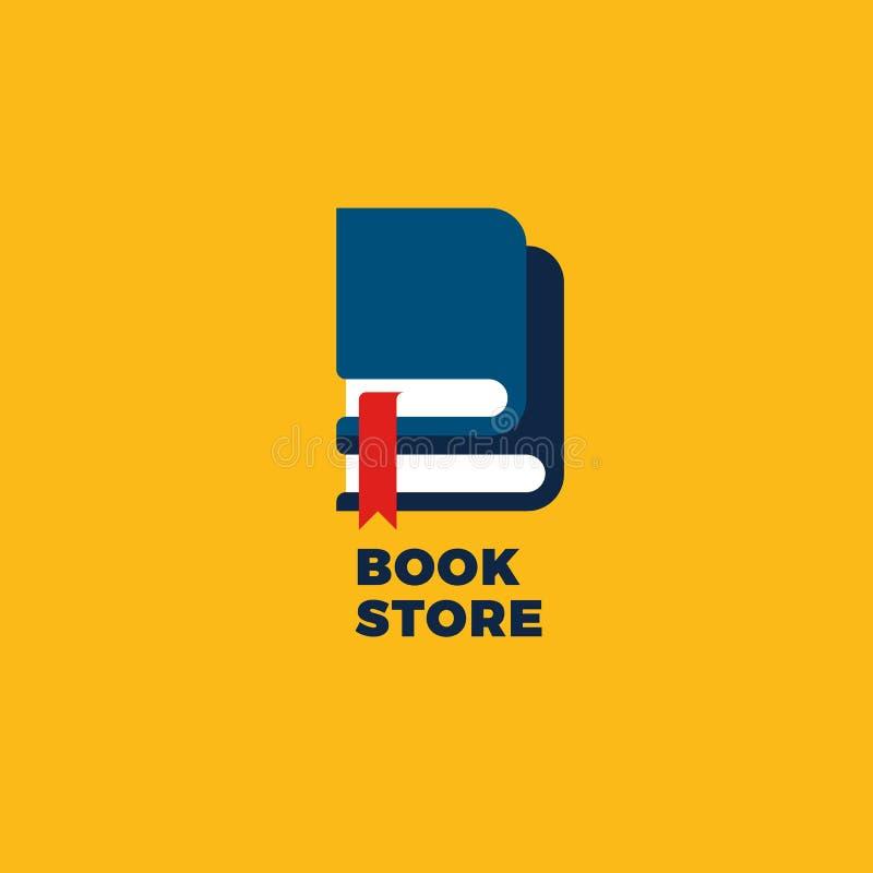 Logotipo plano minimalista brillante con los libros Ejemplo de la letra de B Símbolo conceptual del vector de la educación y del  libre illustration