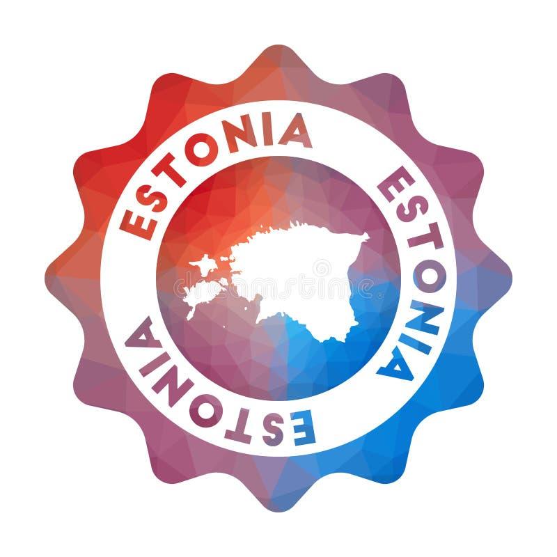Logotipo polivinílico bajo de Estonia libre illustration
