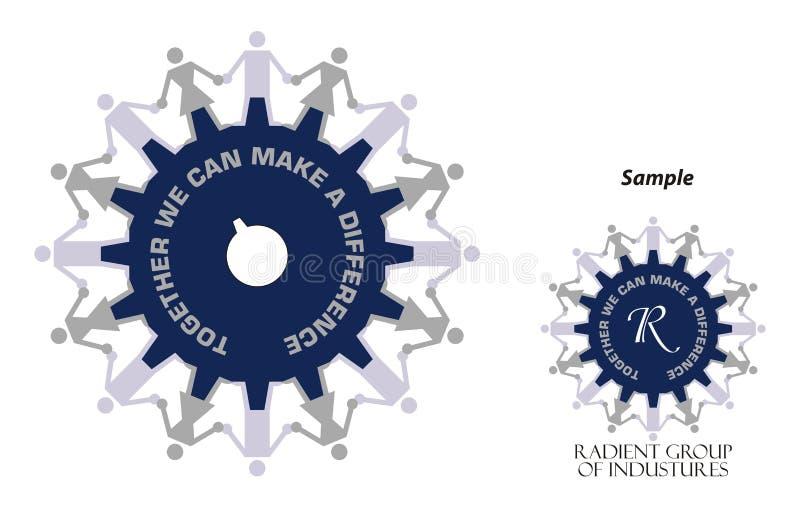 Logotipo - potência industrial ilustração stock