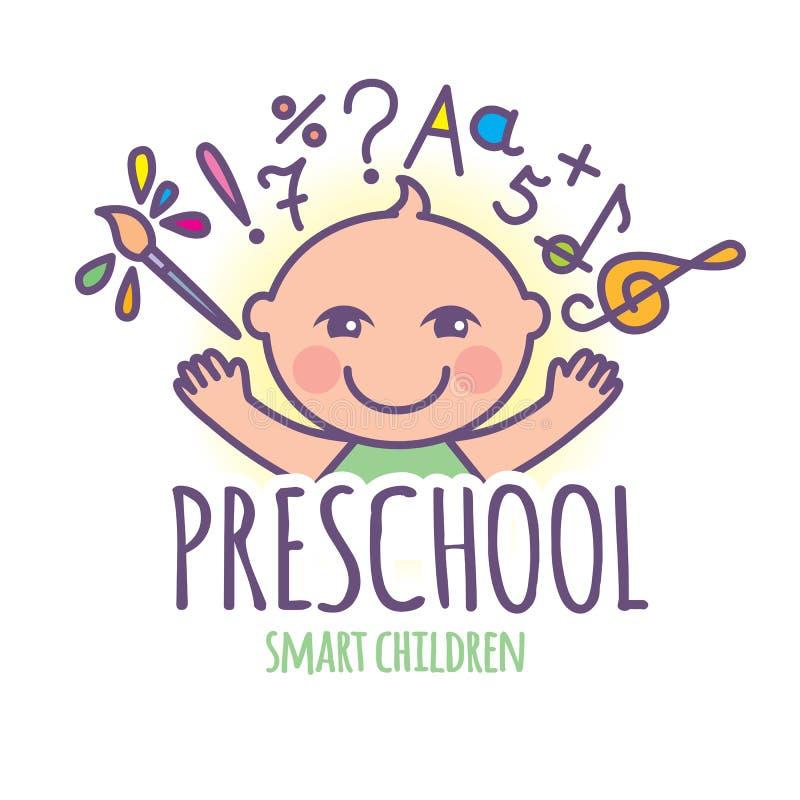 Logotipo pré-escolar ilustração do vetor