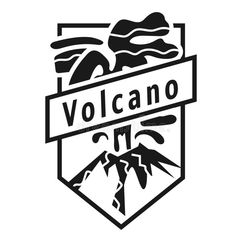 Logotipo prehistórico del volcán, estilo simple libre illustration