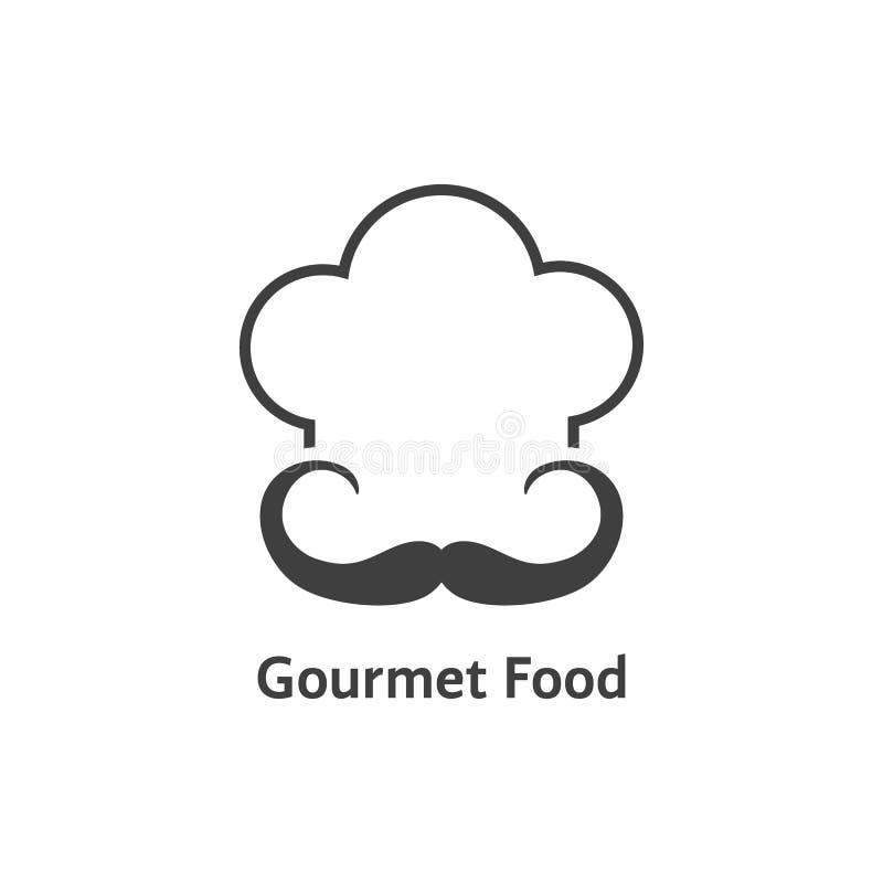 Logotipo preto do alimento gourmet ilustração stock