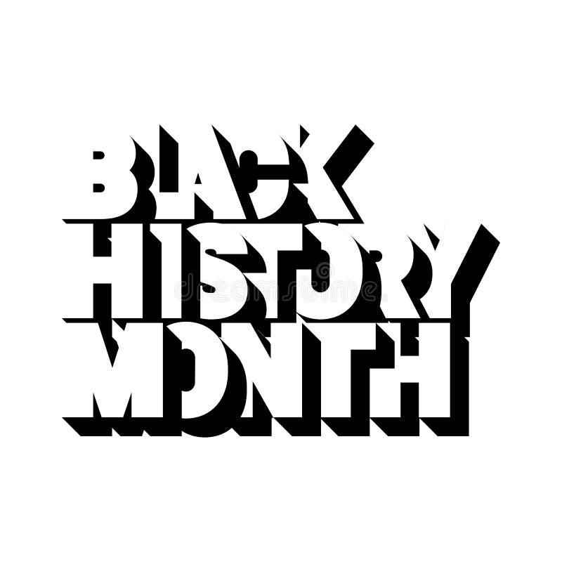 Logotipo preto do mês da história ilustração royalty free
