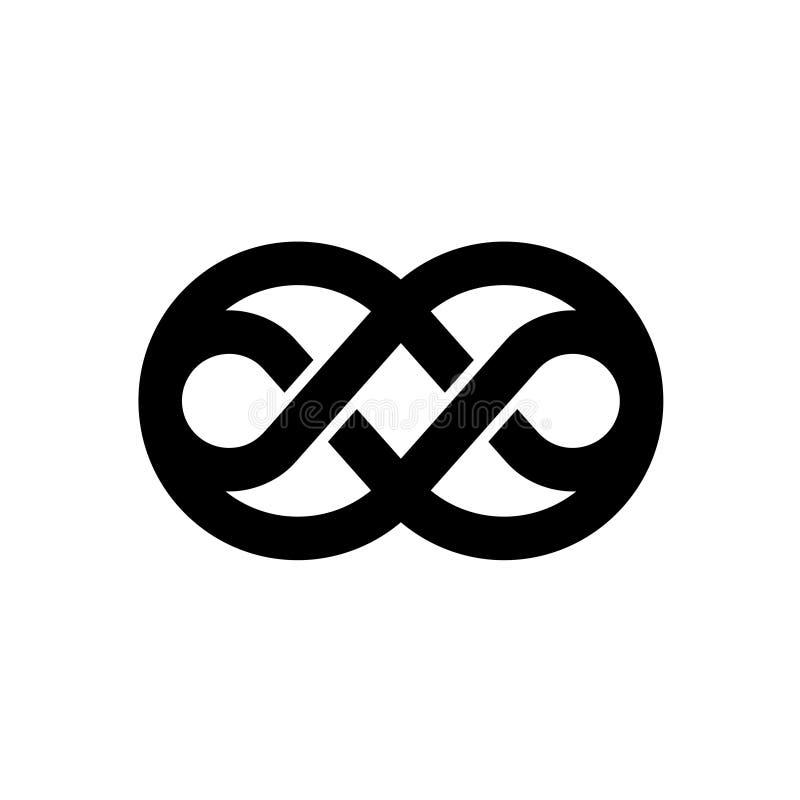 Logotipo preto do nó ilustração royalty free