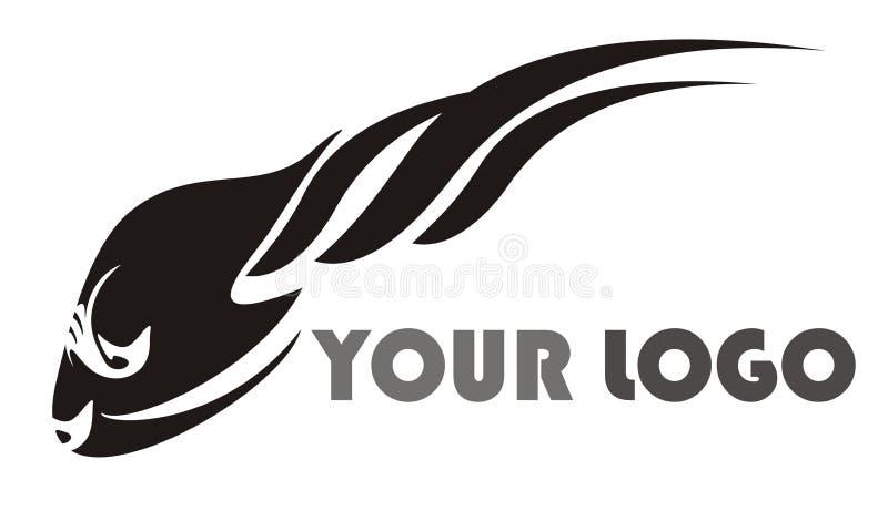 Logotipo preto dos peixes ilustração stock