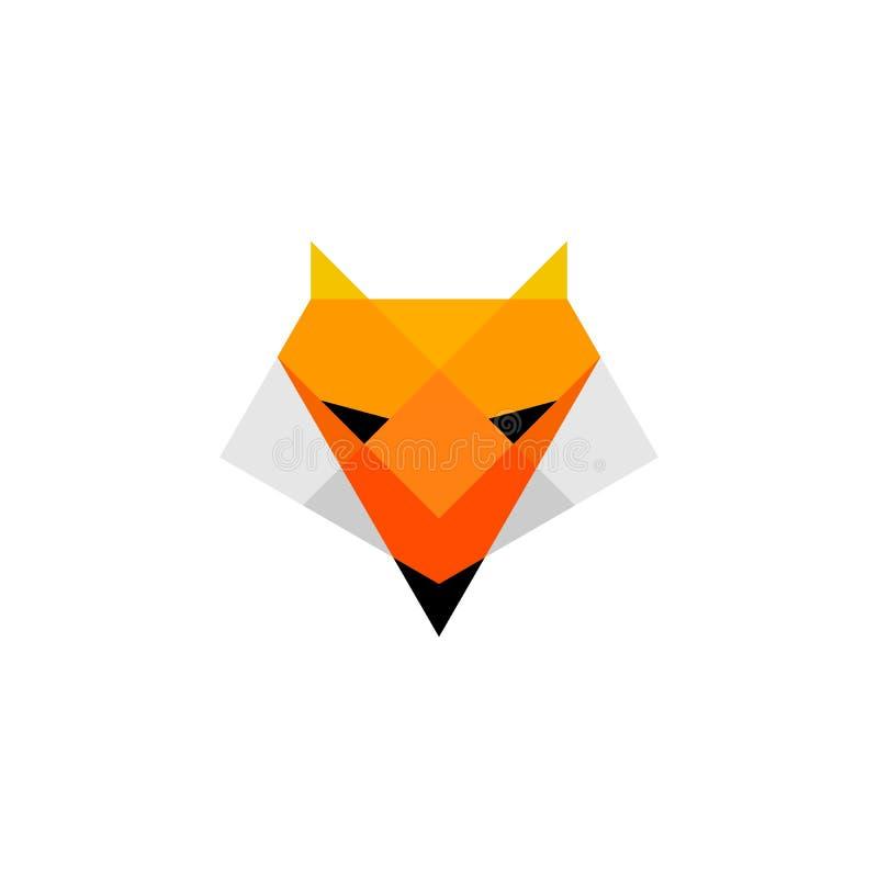 Logotipo principal da baixa raposa poli ilustração royalty free