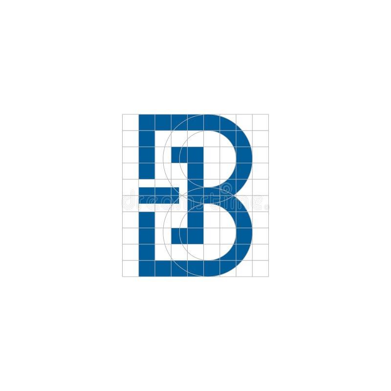Logotipo principal da inicial da letra de B ilustração stock
