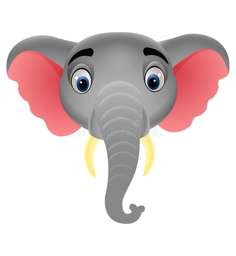 Logotipo principal de la mascota del elefante libre illustration