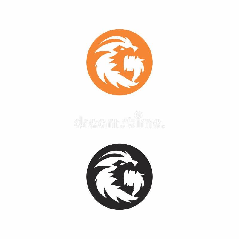 Logotipo principal de la mascota del león libre illustration