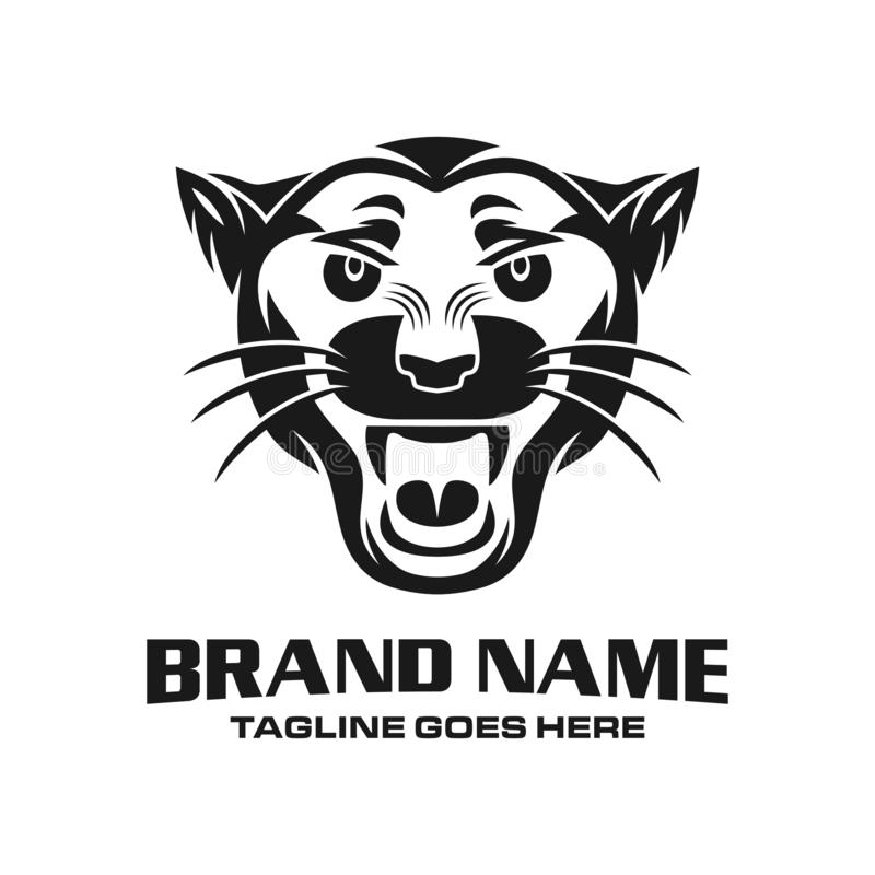 Logotipo principal de la pantera libre illustration