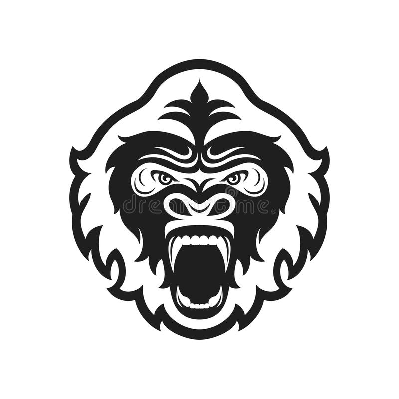 Logotipo principal del gorila para el club o el equipo de deporte Logotipo animal de la mascota modelo Ilustración del vector stock de ilustración