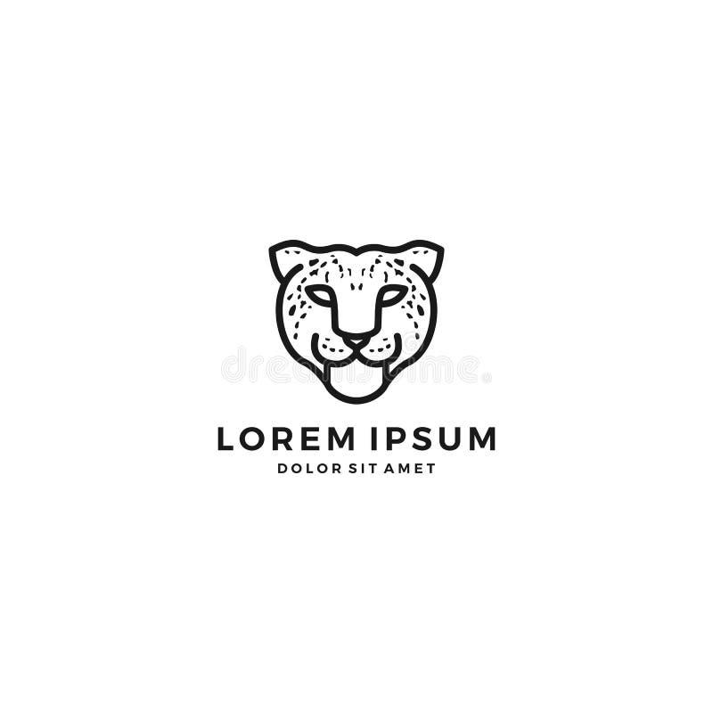 logotipo principal del guepardo del leopardo libre illustration