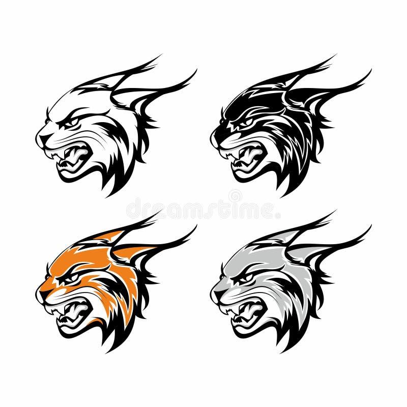 Logotipo principal del tigre ilustración del vector