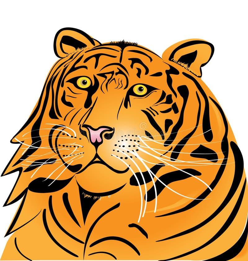 Logotipo principal do tigre ilustração royalty free