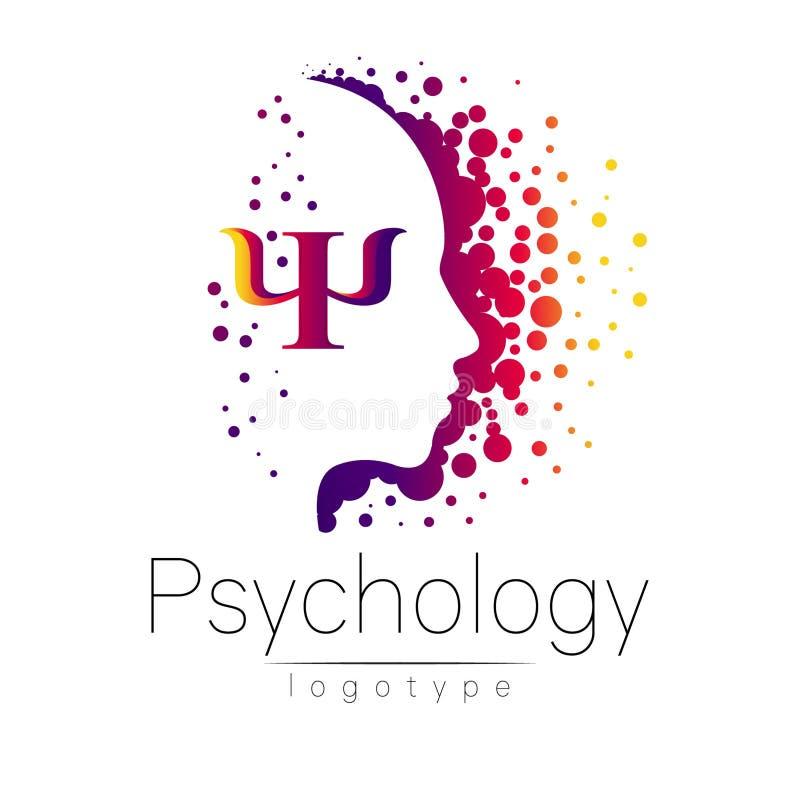 Logotipo principal moderno da psicologia Ser humano do perfil ilustração royalty free
