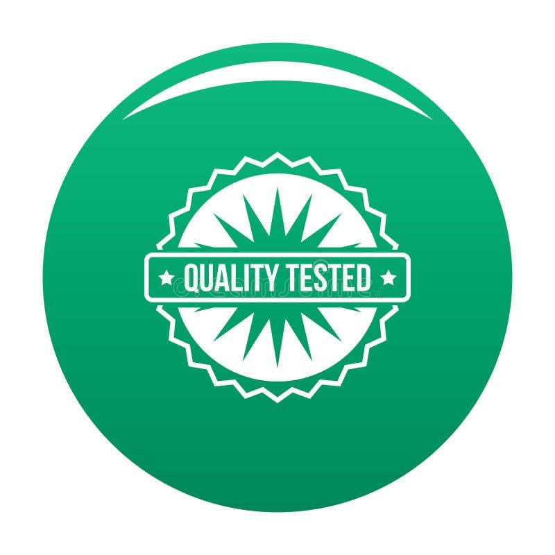 Logotipo probado calidad, estilo simple stock de ilustración