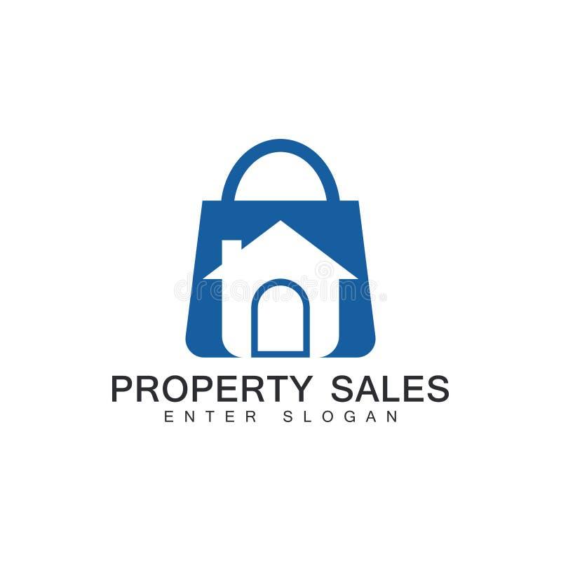 Logotipo profesional moderno de la venta de la propiedad de las propiedades inmobiliarias, logotipo del web de la venta de la pro libre illustration