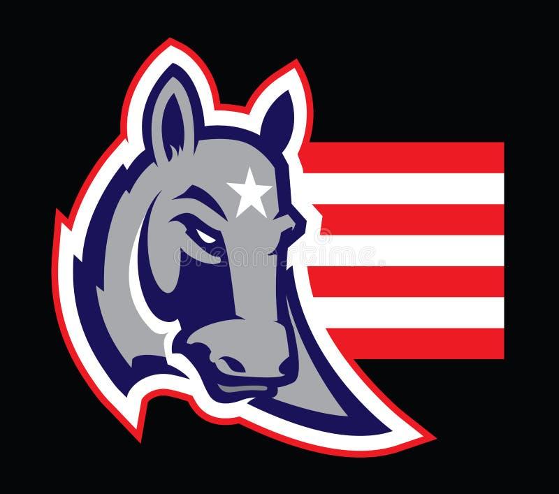 Logotipo profissional moderno com asno para uma equipe de esporte ilustração royalty free
