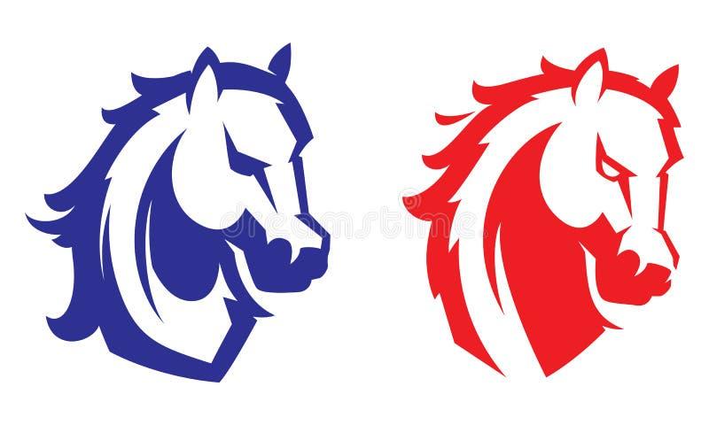 Logotipo profissional moderno com mustang para uma equipe de esporte ilustração royalty free