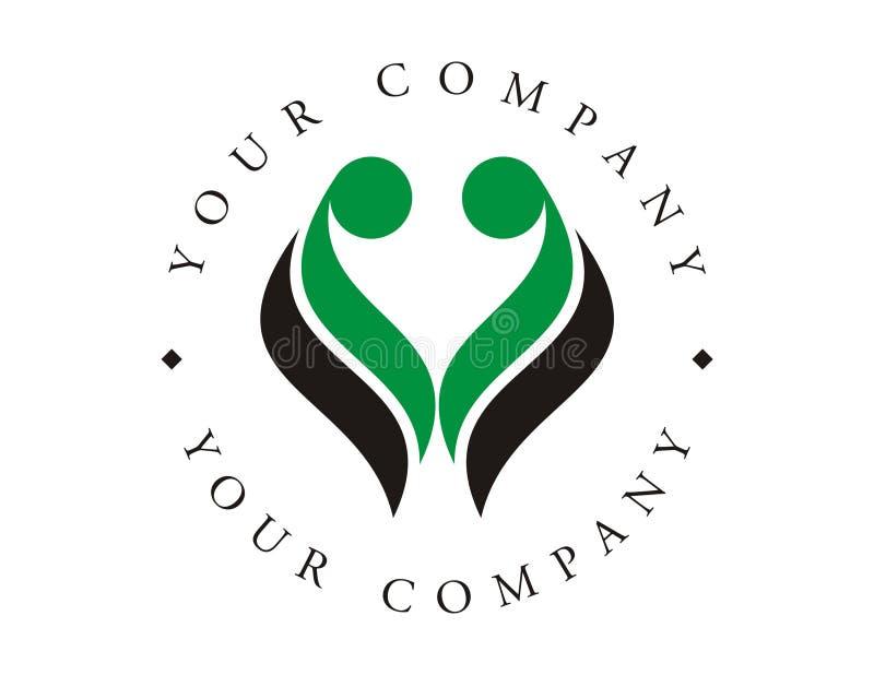Logotipo - proteção da vida ilustração royalty free