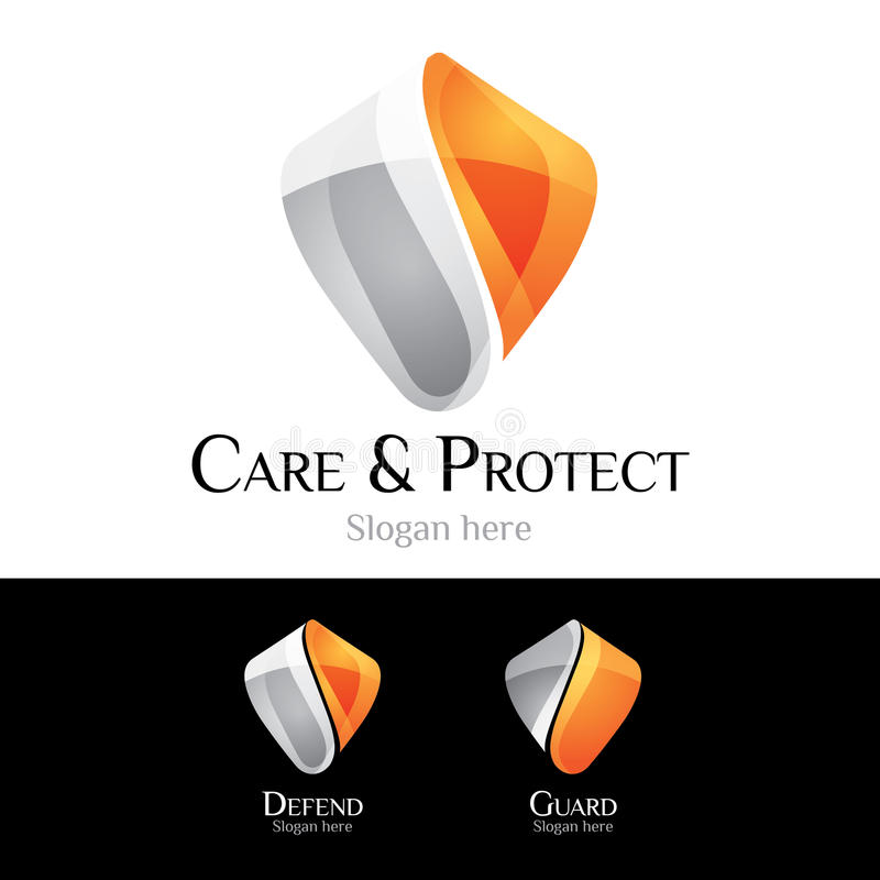 Logotipo - protetor ilustração do vetor