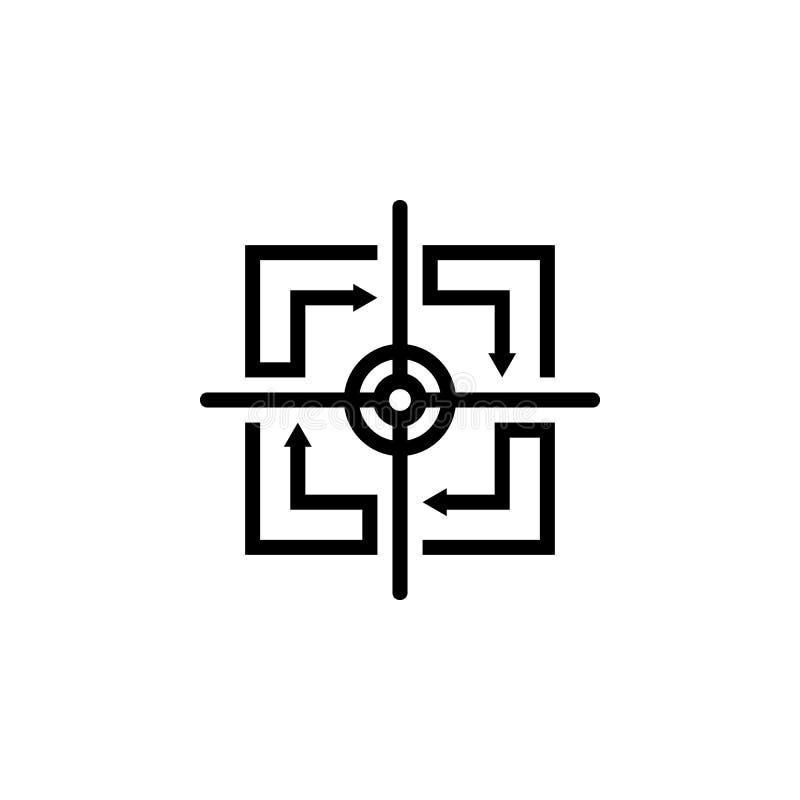 Logotipo quadrado do alvo da seta ilustração royalty free