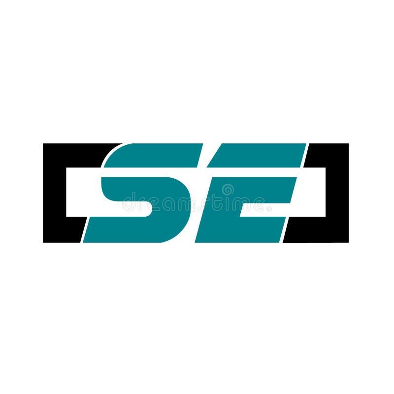 Logotipo que estilo e elegante desportivos ilustração royalty free