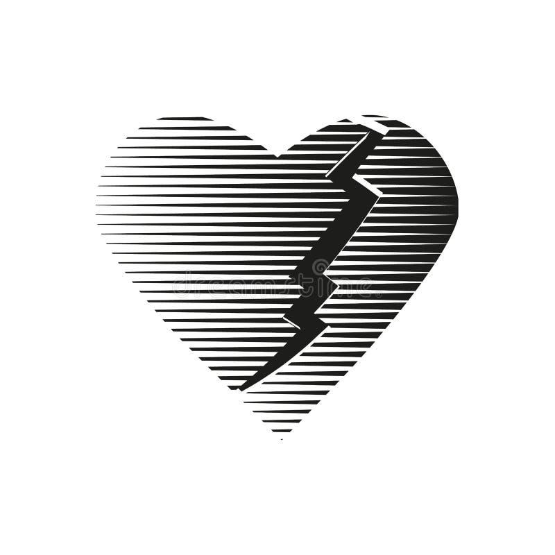 Logotipo quebrado coração imagens de stock royalty free