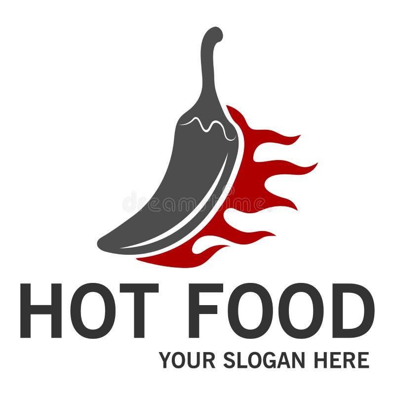 Logotipo quente do alimento ilustração stock