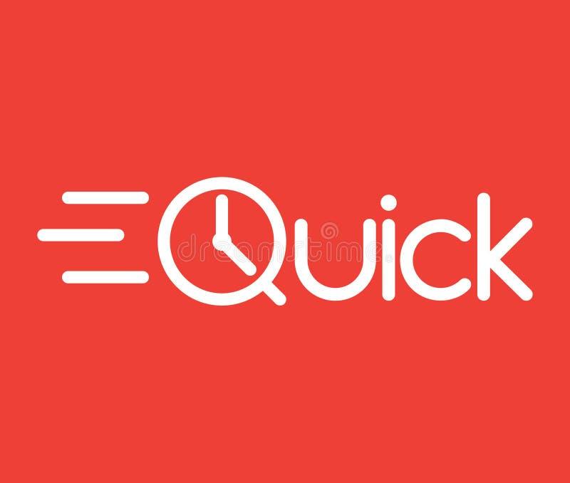 Logotipo rápido ilustração royalty free