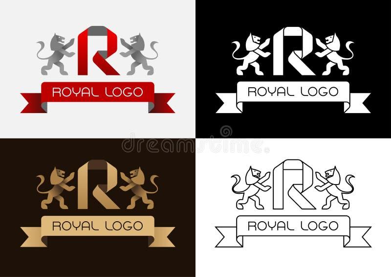 Logotipo real stock de ilustración