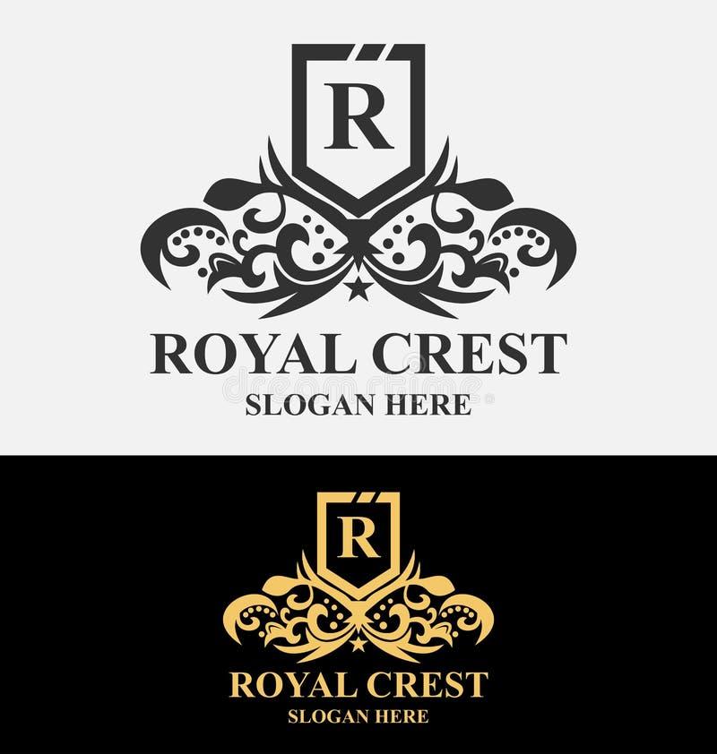 Logotipo real da crista ilustração royalty free