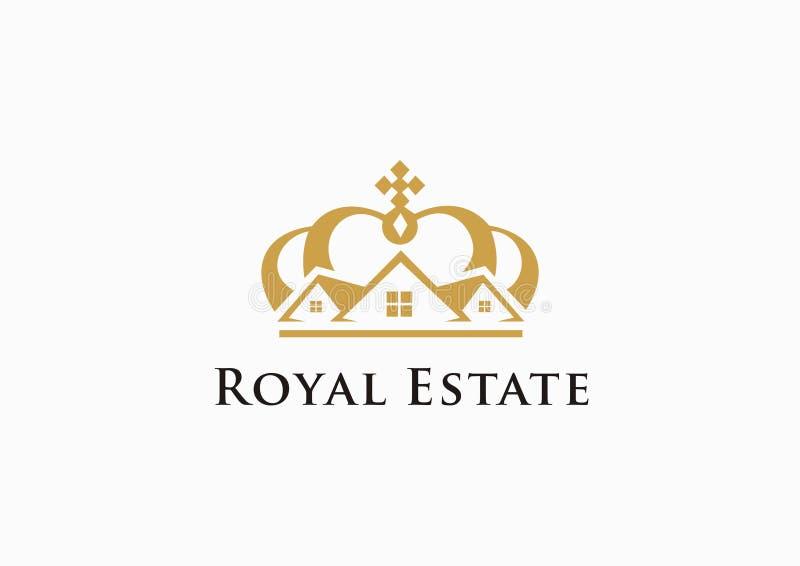 Logotipo real del estado ilustración del vector