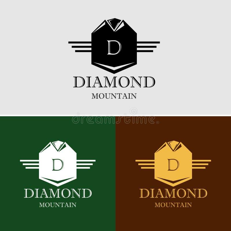 Logotipo real heráldico do vetor da crista imagens de stock royalty free