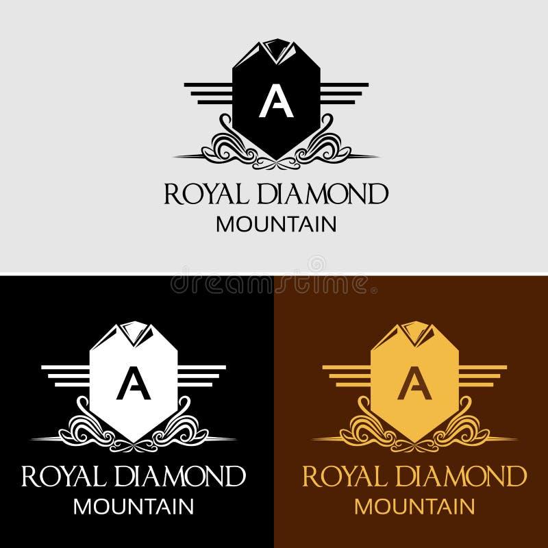 Logotipo real heráldico do vetor da crista imagem de stock royalty free