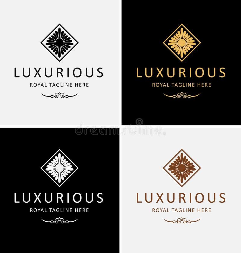 Logotipo real luxuoso ilustração royalty free