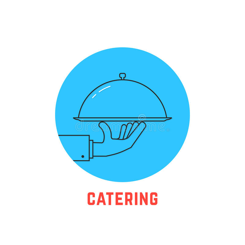 Logotipo redondo azul del abastecimiento ilustración del vector