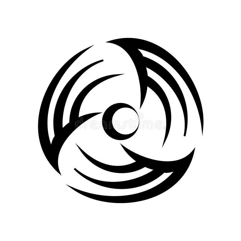 Logotipo redondo del vector del condicionamiento y de la ventilación libre illustration