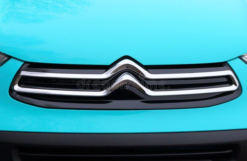 Logotipo remodelado novo do ` s de Citroen fotografia de stock royalty free