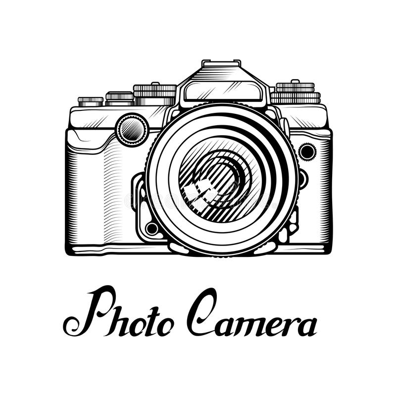 Logotipo retro de la cámara ilustración del vector