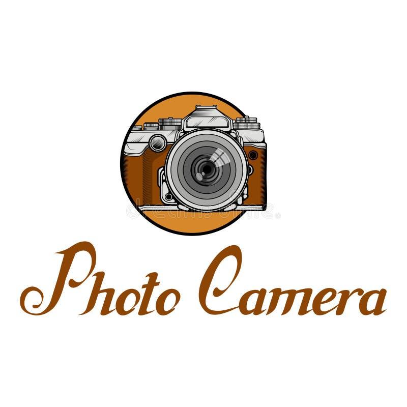Logotipo retro de la cámara Photocamera del vintage libre illustration