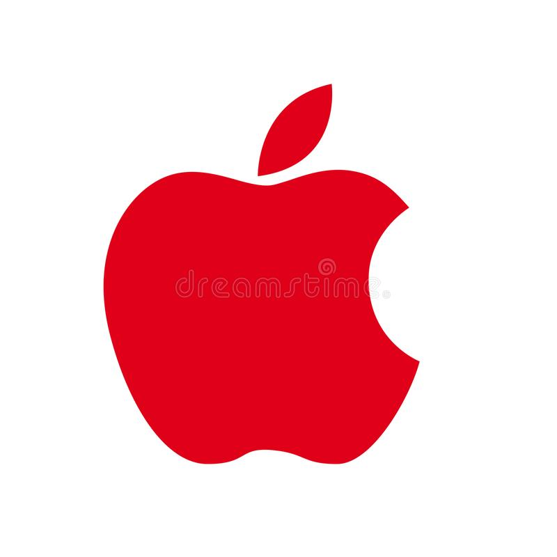 Logotipo rojo de Apple ilustración del vector