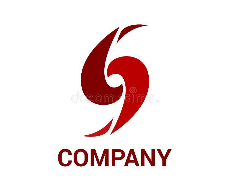 Logotipo rojo del ciclo libre illustration