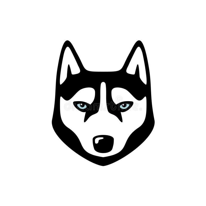 Logotipo ronco da cabeça de cão ilustração do vetor